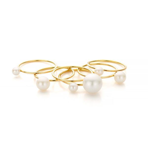 MOYA Bloesem ring met witte zoetwaterparels