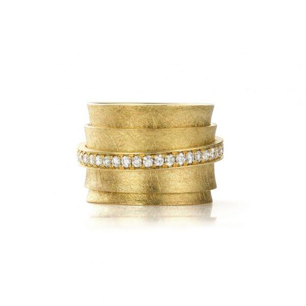 MOYA Carrousel ring met draaiende ringen en diamanten