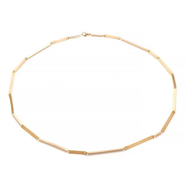 18k geel goud Streepjes collier