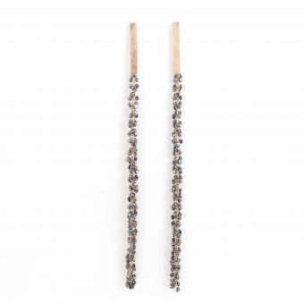 MOYA earpin with black diamonds