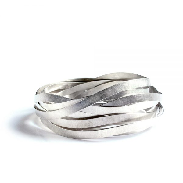 Zilveren Wikkel armband