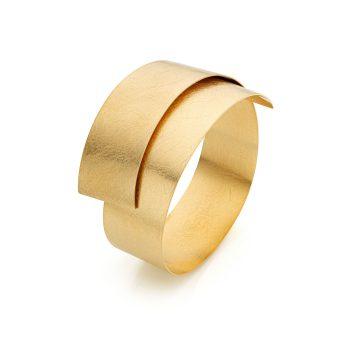 MOYA sheet bracelet 20mm 18k yellow