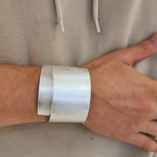 MOYA Plaatarmband zilver 40mm