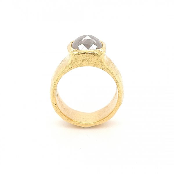 MOYA Raw Elegance ring 18k goud