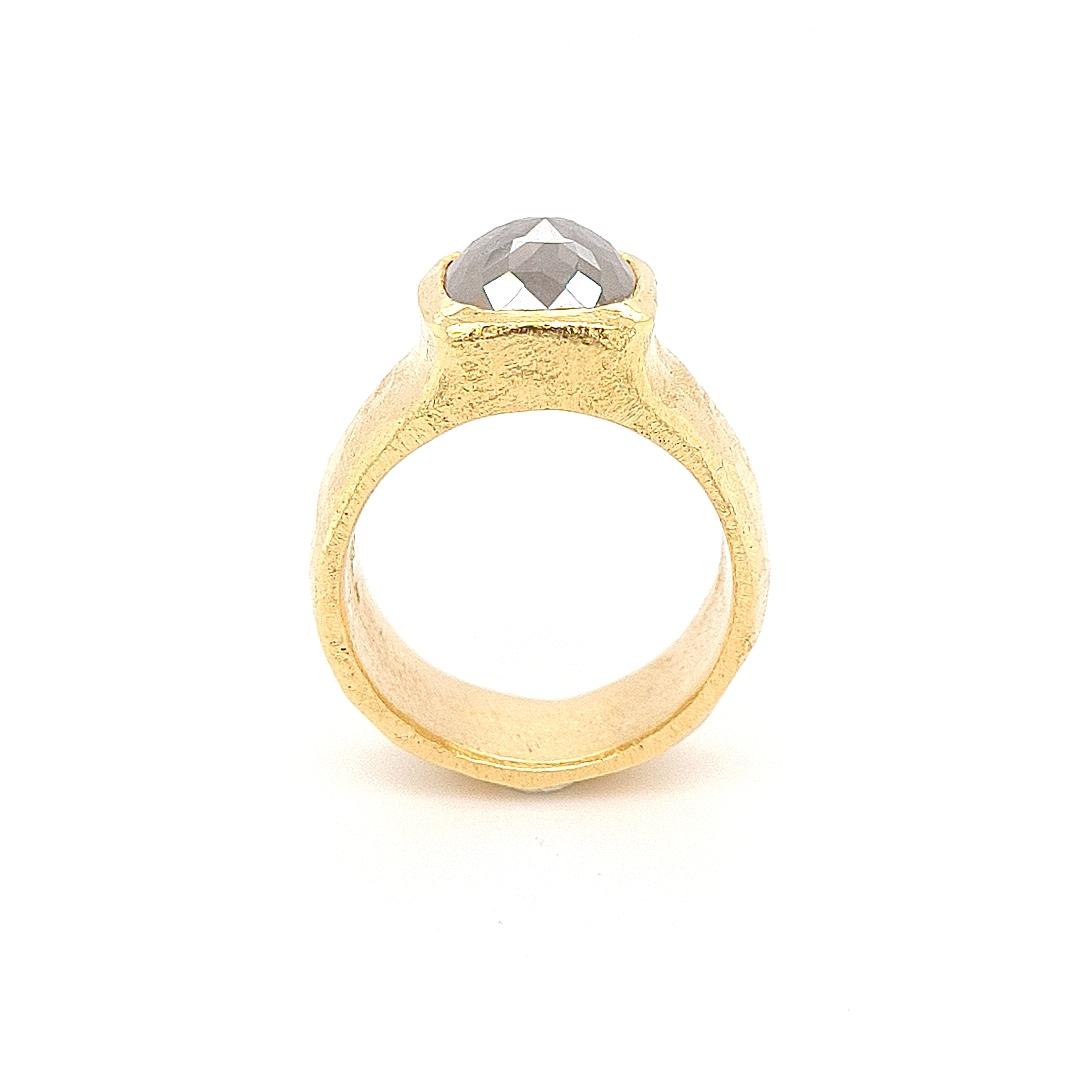 MOYA Raw Elegance ring 18k goud