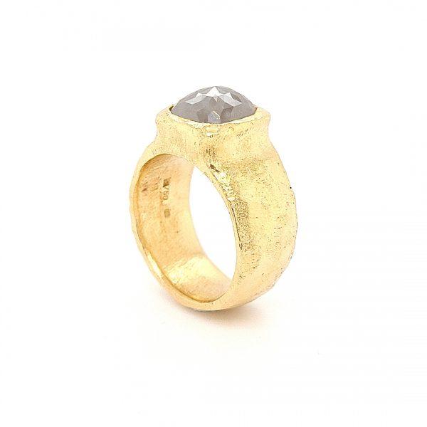 MOYA Raw Elegance ring 18k yellow gold