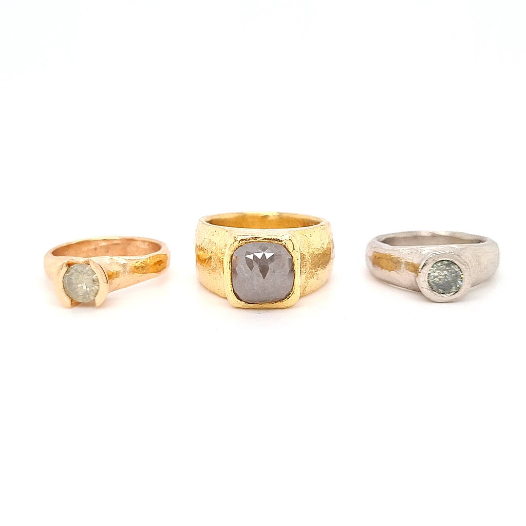 MOYA Raw Elegance ring 3 colors