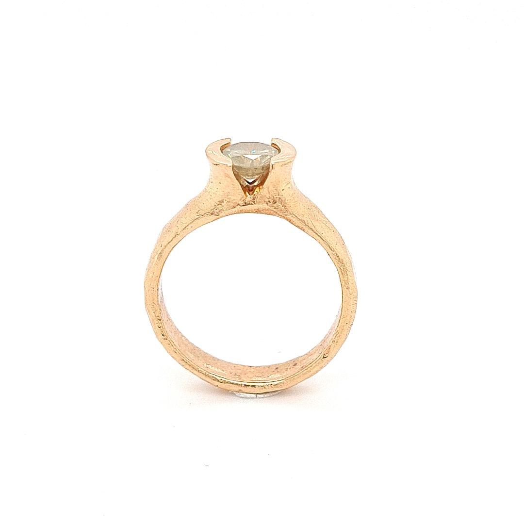 MOYA Raw Elegance ring 18k Rood goud met melk diamant