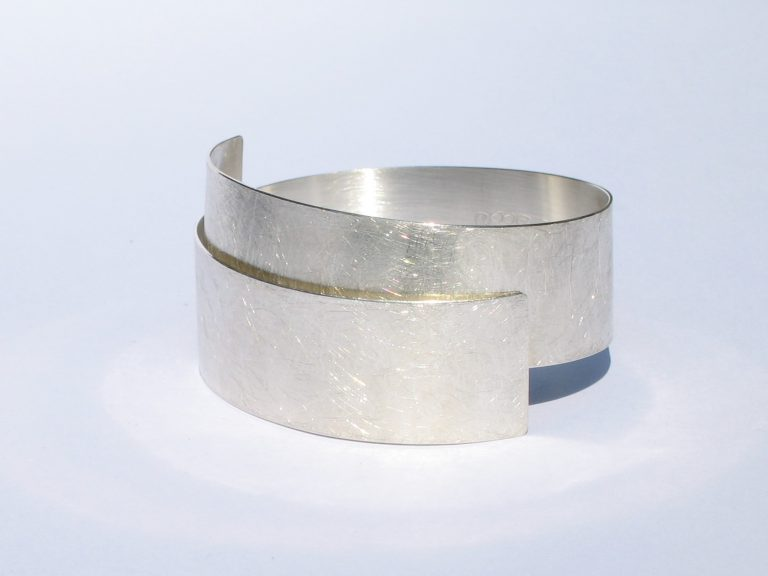 Zilveren plaatarmband