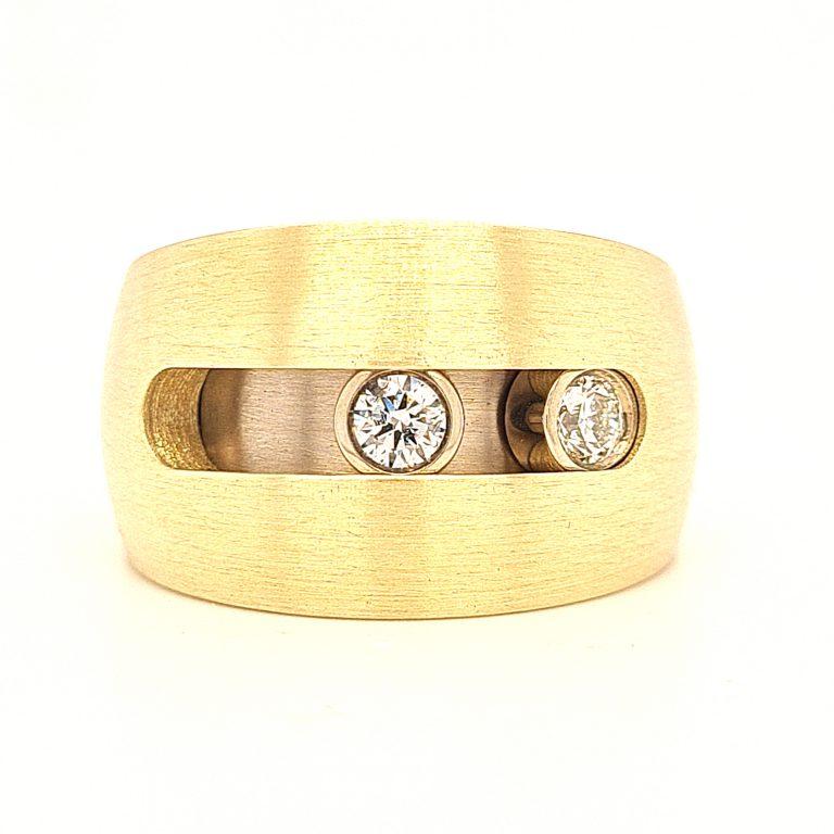 MOYA ring bewegende diamanten
