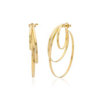 MOYA loops earrings 3 bands